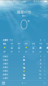 今朝の気温1