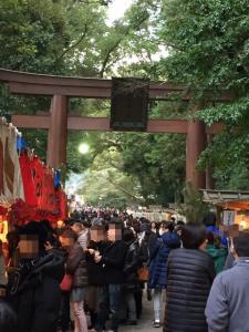 日本最古の神社の鳥居